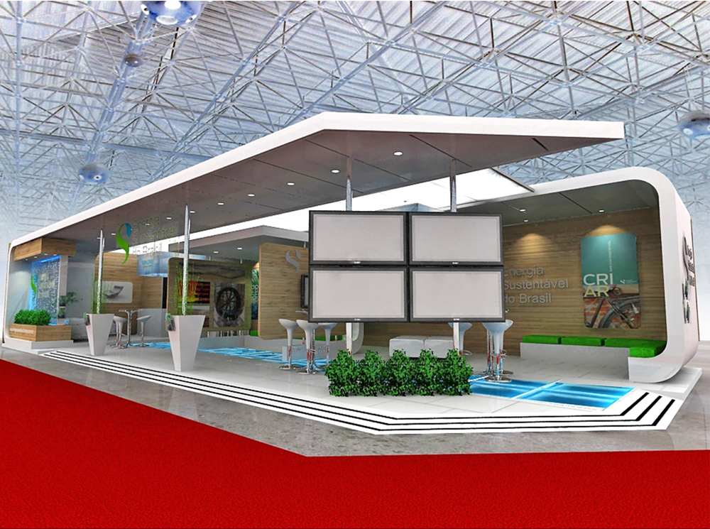 3d Exhibition Design : Energia sustentÁvel do brasil laux estandes